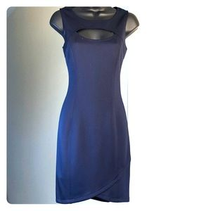 GUESS sz 4 navy blue sleeveless dress